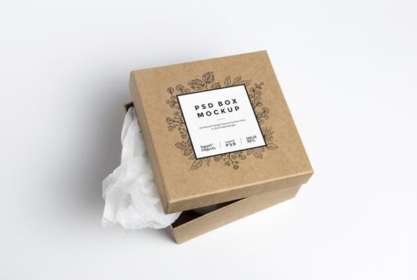 Mockup boite en carton