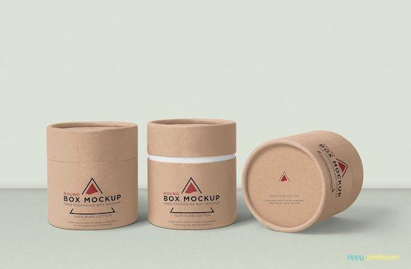 Mockup boite ronde
