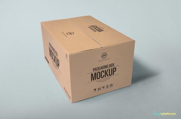 Mockup carton fermé