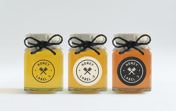 Mockup pot de miel