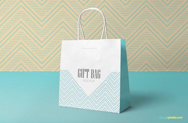 Mockup sac en papier blanc