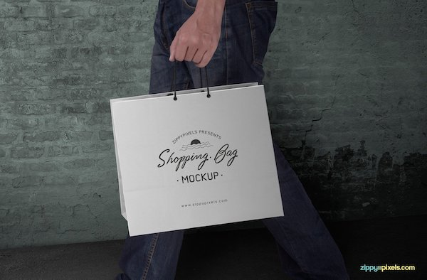 Mockup sac shopping
