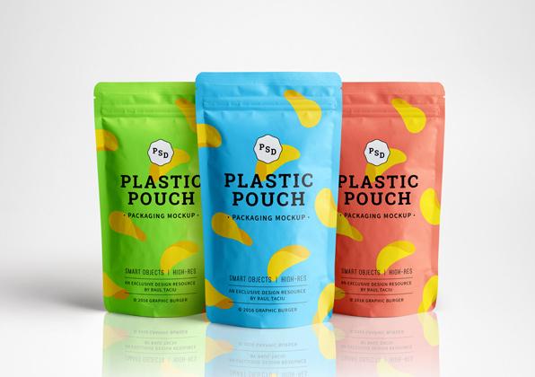 Mockup sachet plastique