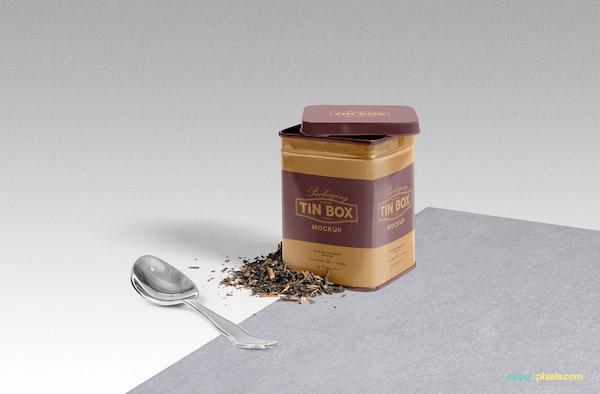 Mockup boite de thé