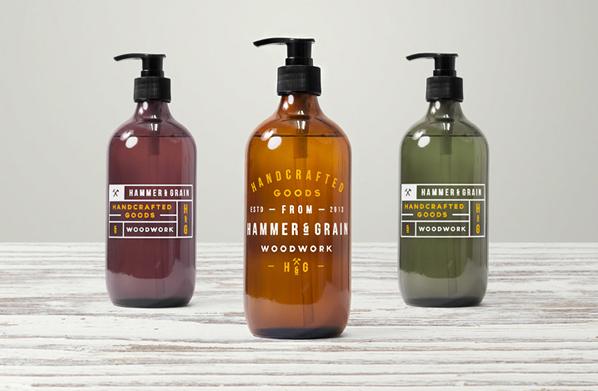 Mockup bouteille de savon pour les mains