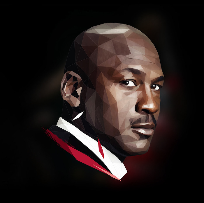 Micheal Jordan low poly art