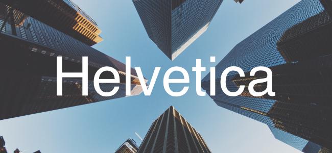 Typographie Helvetica