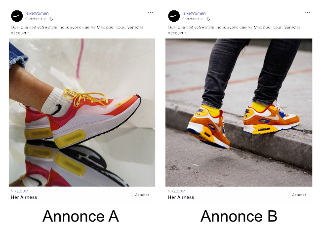 A/B Testing Facebook Ad Nike