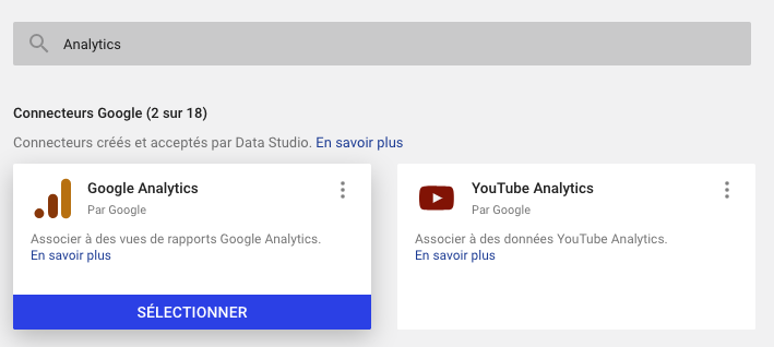 Google Analytics et Google Data Studio