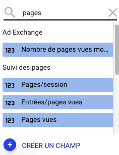 Pages par session