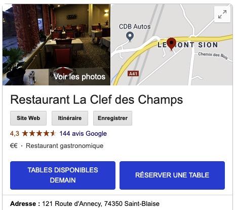 Prise de rendez-vous Google My Business