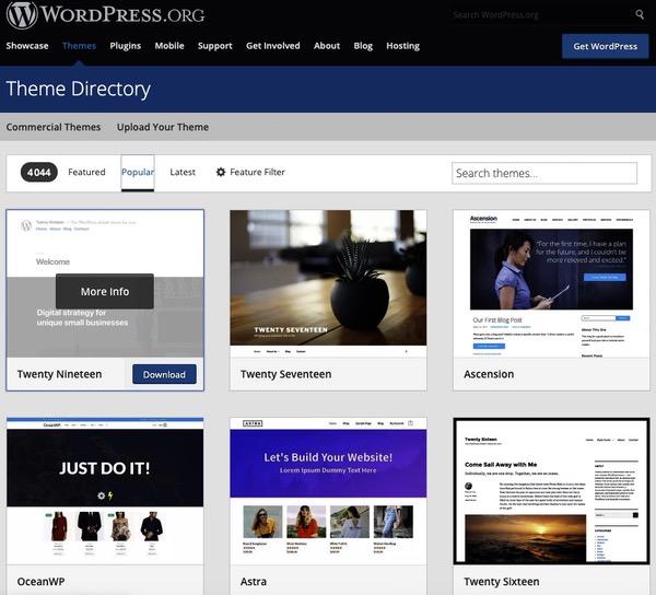 Thème WordPress site officiel