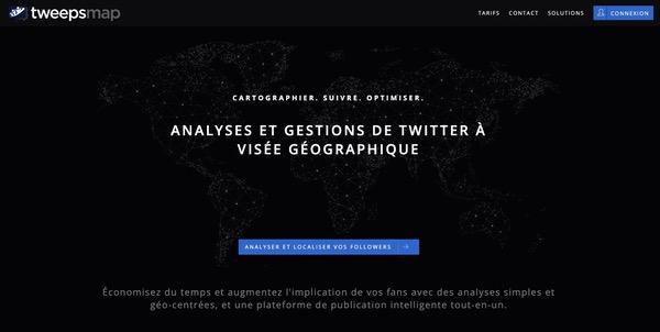 Tweepsmap analyses Twitter