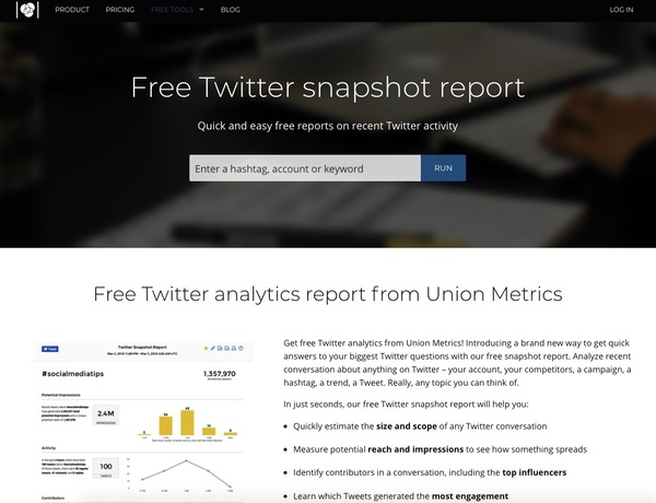 Union Metrics analyses Twitter