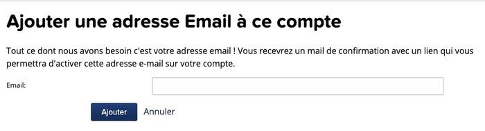 Ajouter un email dans Gravatar