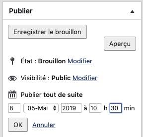 Date de publication