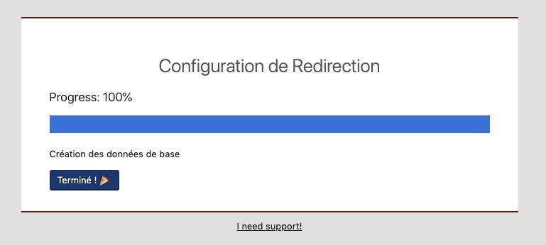 Installation du plugin redirection