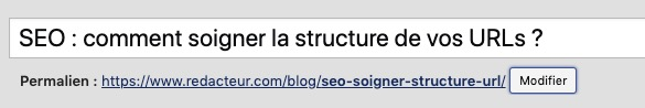 Modifier le permalien d'un article WordPress