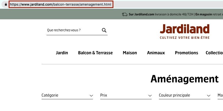 Ordre des catégories dans une URL