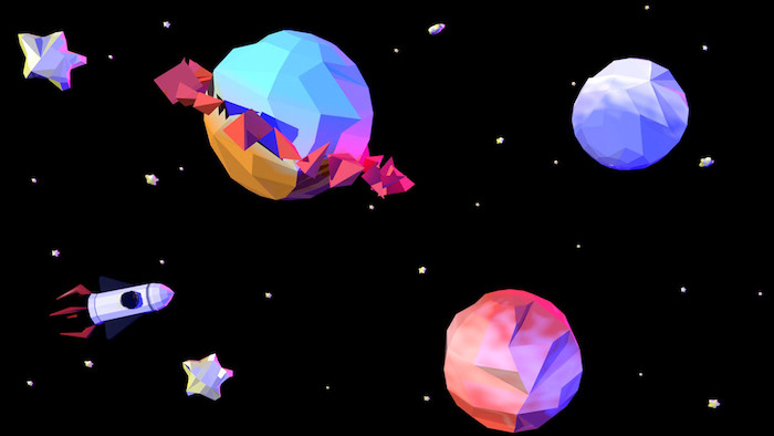 Low Poly art espace