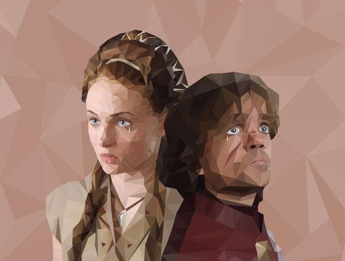Low poly art Game of Thrones