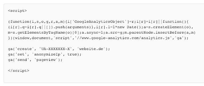Script anonymiser IP