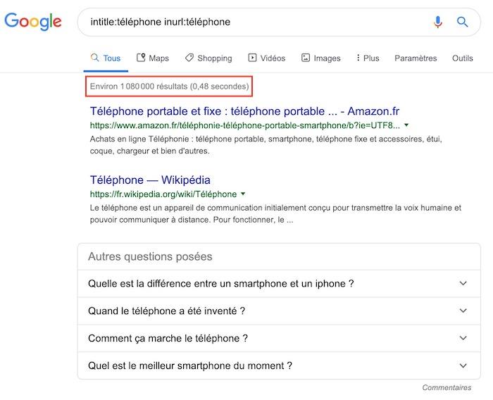 Recherche téléphone opérateur de Google