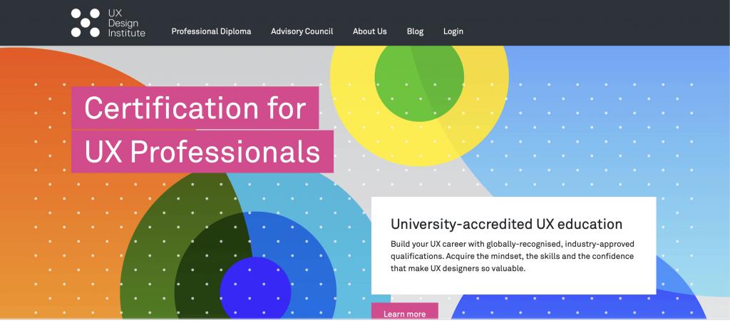 site web de UX Design Institute