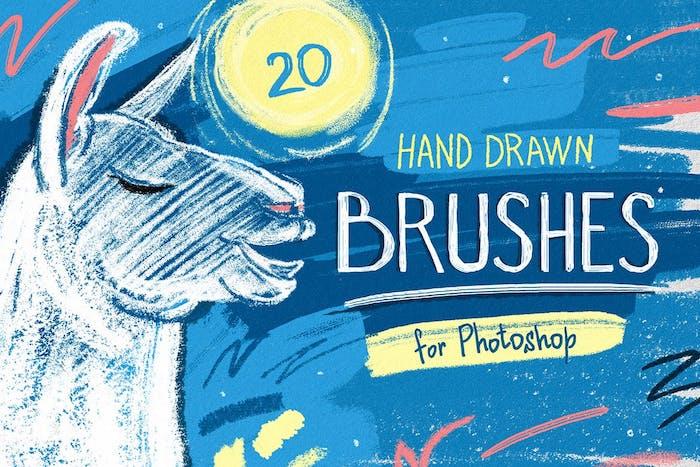 Brushes crayon