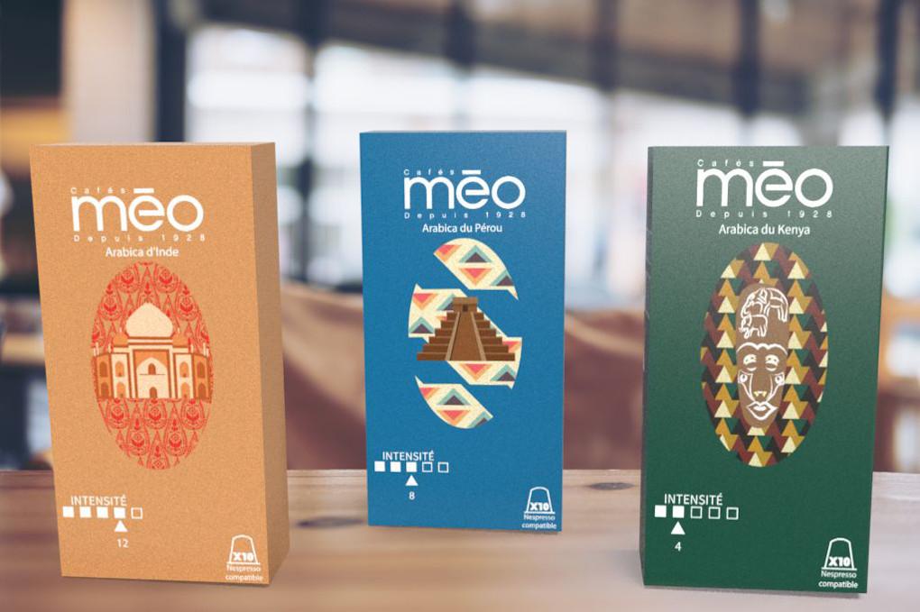 Café Méo trois variétés différentes