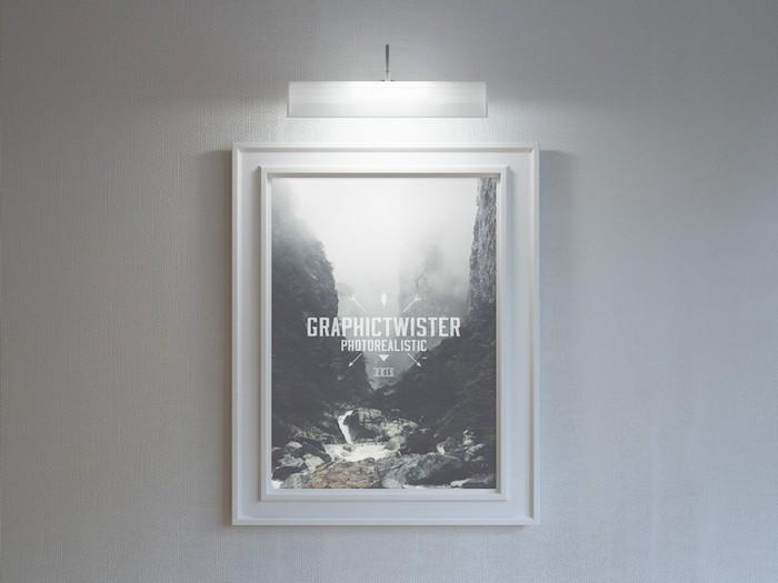 Mockup d'affiche dans un musée
