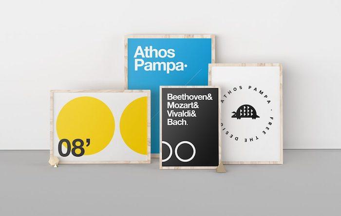 Mockup d'exposition d'affiches