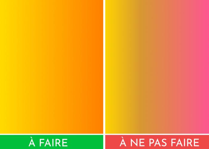 Nombre de couleurs dégradés