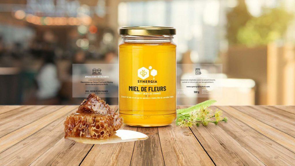 Pot de miel de fleurs Synergia