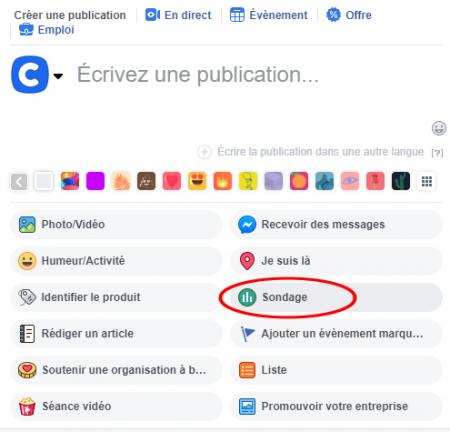 Facebook étiquette sondage