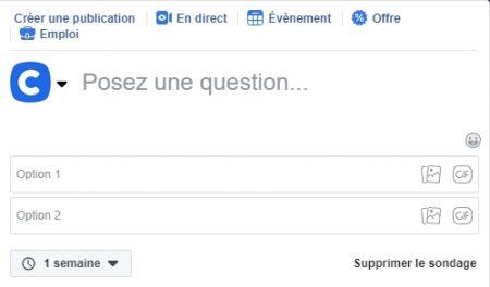 Faceboook question libre