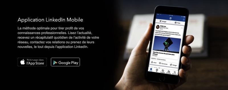 Application mobile LinkedIn