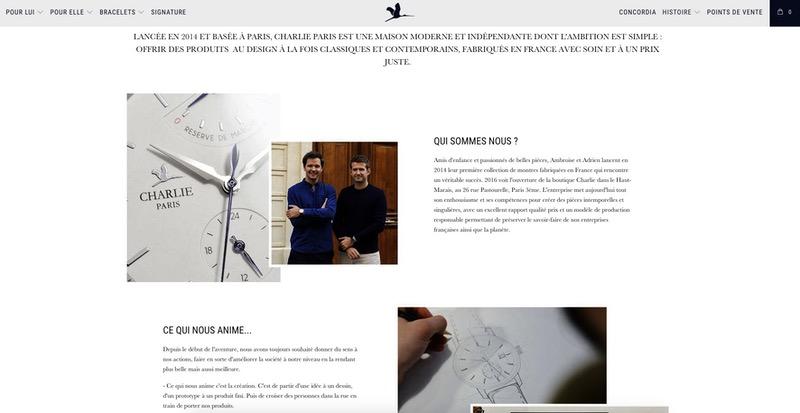 Visuels page à propos