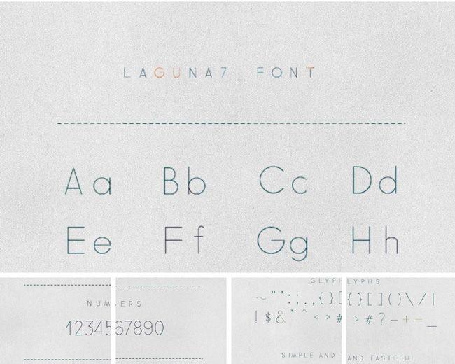 laguna 7 typographie pour graphiste rendu des chiffres amélioré