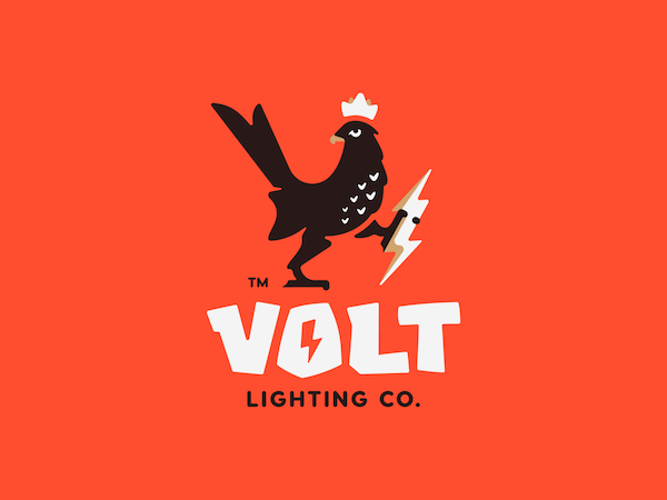 Logo mascotte coq