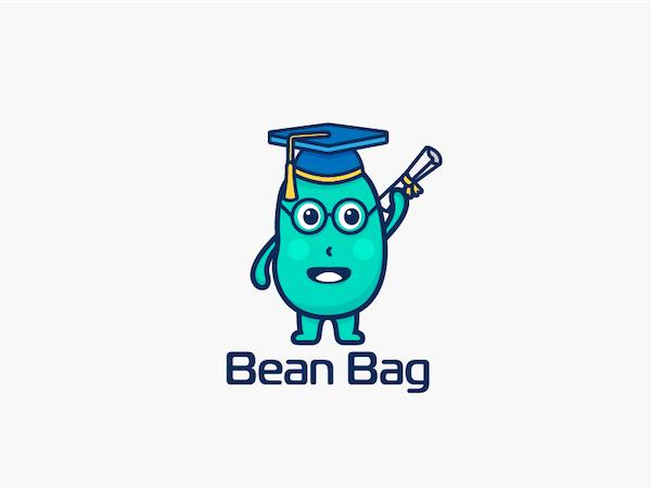 Logo mascotte haricot