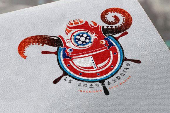 Logo mascotte monstre