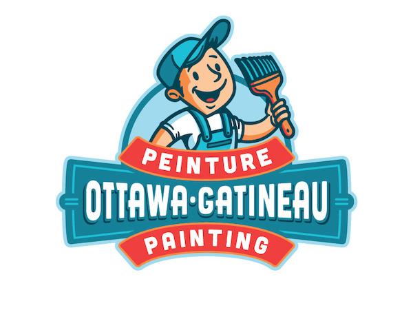 Logo mascotte peintre