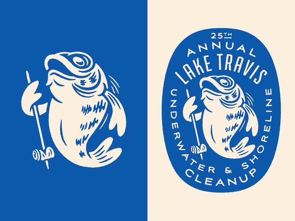 Logo mascotte poisson