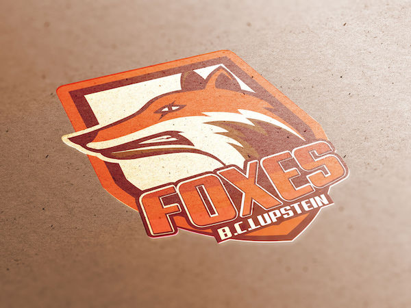 Logo mascotte renard