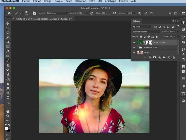 tutoriel photoshop effet bokeh