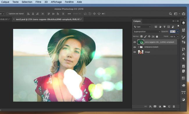 image graphiste tutoriel photoshop effet bokeh
