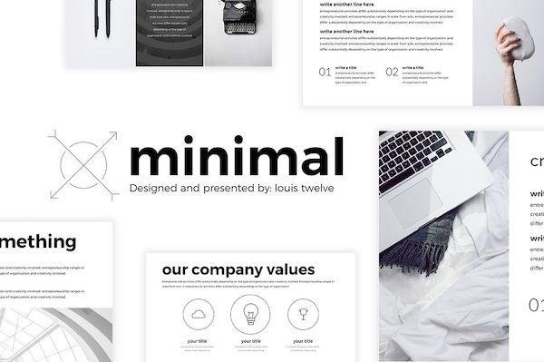 image theme gratuit pour powerpoint graphiste theme minimal