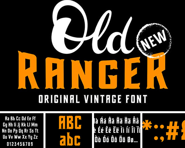 old ranger typographie pour graphiste