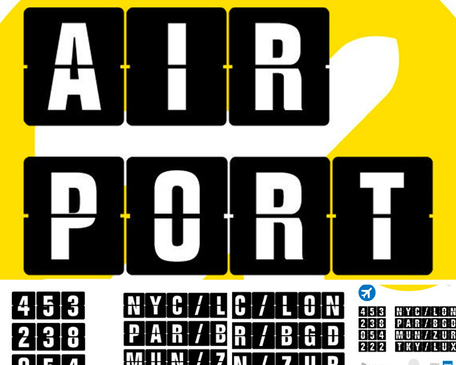 air port police typographie pour graphiste